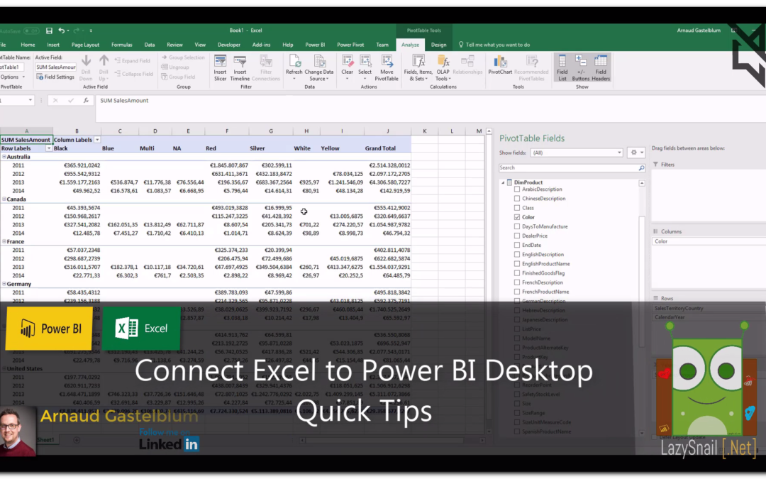 Connect Excel To Power BI Desktop