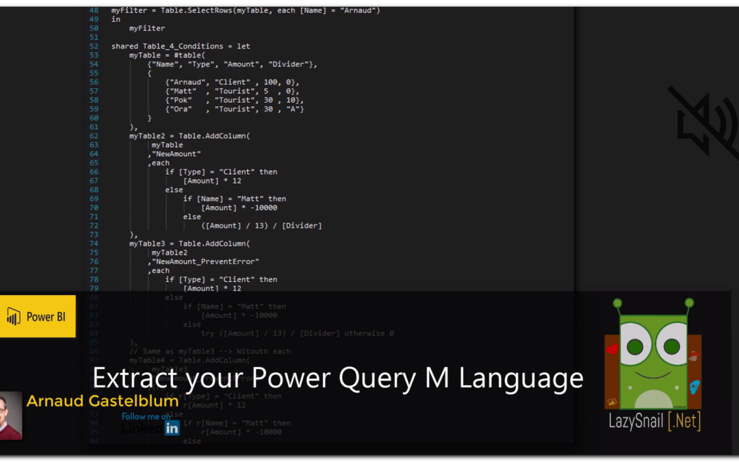 Power BI – Extract your Power Query M Script