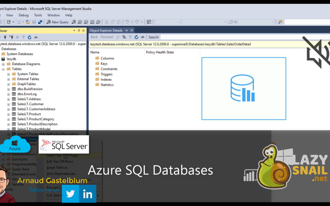 How to create a database in Azure